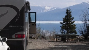 Our spot @ Kluane Lake/Congdon Creek Yukon campground.