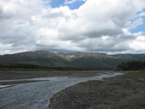 To the west at Tek River camp/Denali